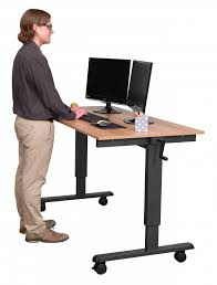 Standing And Sitting Desk 60 Crank Adjustable Height Sit To Stand Desk Stand Up Desk Store