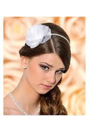 serre tãªte mariage headband serre tête fleur et strass blanc ou ivoire coiffure
