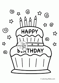 happy birthday cake card coloring kids holiday coloring