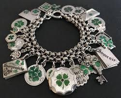 lucky leaf bracelet images 404 best vintage charms shamrocks clovers images jpg