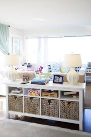 Decorating Sofa Table Behind Couch by This Behind The Couch Console Could Be Done With Bookshelf On Side