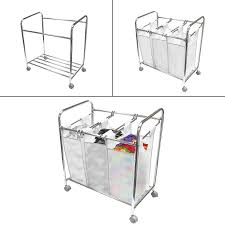 Laundry Hamper 3 Compartment by 3 Bag Laundry Sorter Cart Sorbus