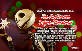 thinks the nightmare before christmas is my favorite christmas