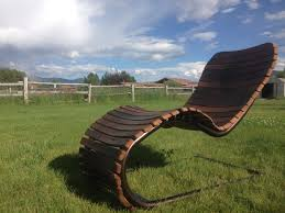 Wine Barrel Rocking Chair Plans Buy A Hand Crafted The Stache Lounge Wine Barrel Chaise Lounge