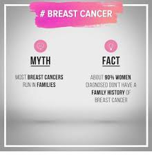Breast Cancer Memes - breast cancer myth fact most breast cancers about 90 women run in