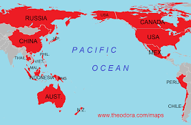 Asia Map With Country Names by Apec Asia Pacific Economic Cooperation Member Countries