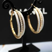 gold hoop earings designer gold hoop earrings gilt big rond hoop with stones