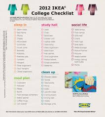 College Toiletries Checklist Use Ikea U0027s Dorm Checklist To Make Sure You Have All Your Housing
