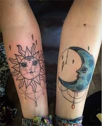 best 24 sun and moon tattoos design idea for and