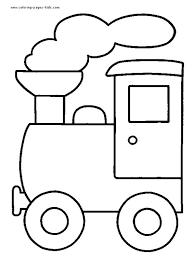 train color transportation coloring pages color plate