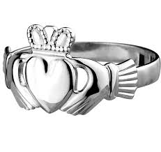 mens claddagh ring sterling silver standard men s claddagh ring 12 5mm