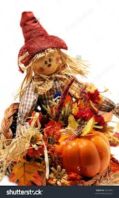scarecrow halloween decorations halloween decorations scarecrow dried autumn flowers stock photo