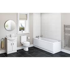 Bathroom Set Sienna White Vanity Bathroom Set With Kensington Straight Bath