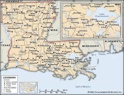 louisiana state map key louisiana history geography britannica