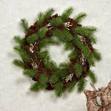 pine cone rustic winter wreath or centerpiece