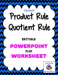 calculus derivatives product rule quotient rule powerpoint plus
