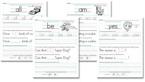 printable kindergarten sight words kindergarten primer sight word sentences confessions of a