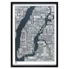 New York Neighborhood Map New York City Neighborhoods Map Print Manhattan Map Custom New