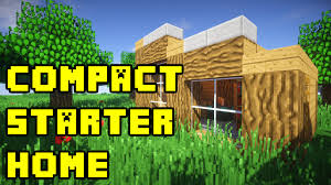 compact houses minecraft simple compact survival house build tutorial xbox pe