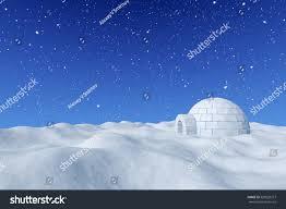 winter north polar snowy landscape eskimo stock illustration