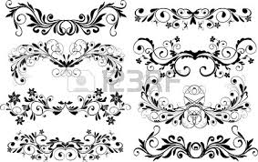 ornaments design elements vector royalty free cliparts vectors