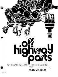 off highway parts manual repro 1960 1970 ford mercury
