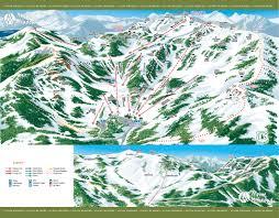 Big Sky Montana Trail Map by Alpine Meadows Ski Area Skimap Org
