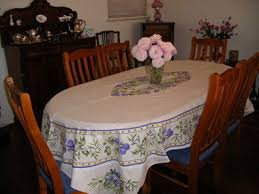 tablecloth for oval dining table provencal cotton tablecloth