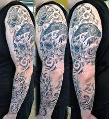 tribal sleeve tattoos for girls and boys tribal skull sleeve