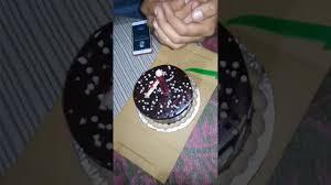birthday celebration burning sparkling candle on cake youtube