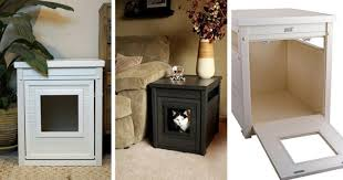 ecoflex jumbo litter loo hidden kitty litter box end table hide the litter box with a stylish end table while saving big