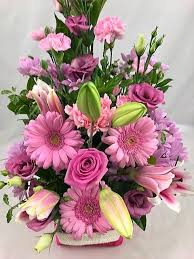 flower gift pink bloom flower gift bag flower delivery cork unforgettable