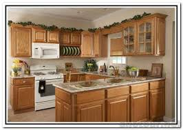 Kitchen With Oak Cabinets White Kitchen Cabinets With White Appliances Oak Kitchen Cabinets