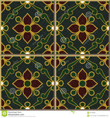 Moroccan Pattern Art Moroccan Wall by Vintage Seamless Wall Tiles Of Green Gold Outline Flower Leaf