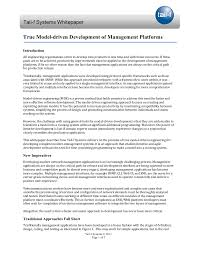 tail f systems whitepaper true model driven network management