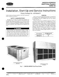 carrier heat pump 40rr024 user guide manualsonline com