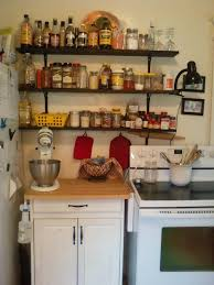 small kitchen shelving ideas brown varnished oak wood corner wall cabinet combined rustic black