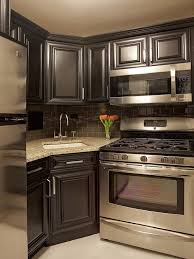 Impressive Stylish Small Kitchens With Dark Cabinets Best  Dark - Kitchen photos dark cabinets