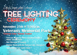 tree lighting ceremony november 25th 5 30pm news