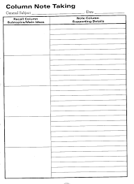 free printable cornell notes graphic organizer comic note