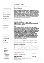 Education Resume Examples by Special Education Teacher Resume Best Resume Collection
