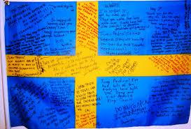 Sweedish Flag Signed Swedish Flag U2013 Letters From Gothenburg