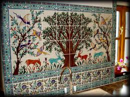 incredible tile murals kitchen backsplash come with colorful