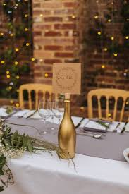 gold wine bottle table numbers our wedding day the reception steph style