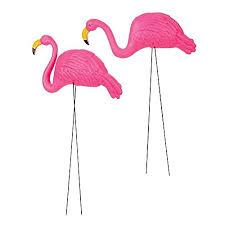 set of 2 beautiful pink flamingo 3 dimensional