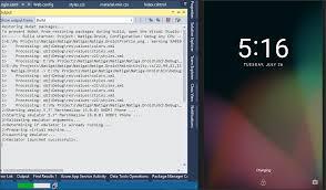 android sdk emulator running xamarin app on visual studio android emulator is stuck for
