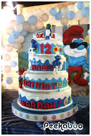 the smurfs birthday party ideas photo 2 of 11 catch my party
