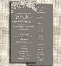 print at home wedding programs 53 best programs images on receptions wedding and