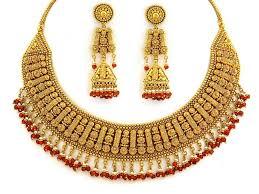 gold jewellery designs 22kt designer necklace set sn0100