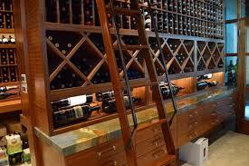 modern custom wine cellar design